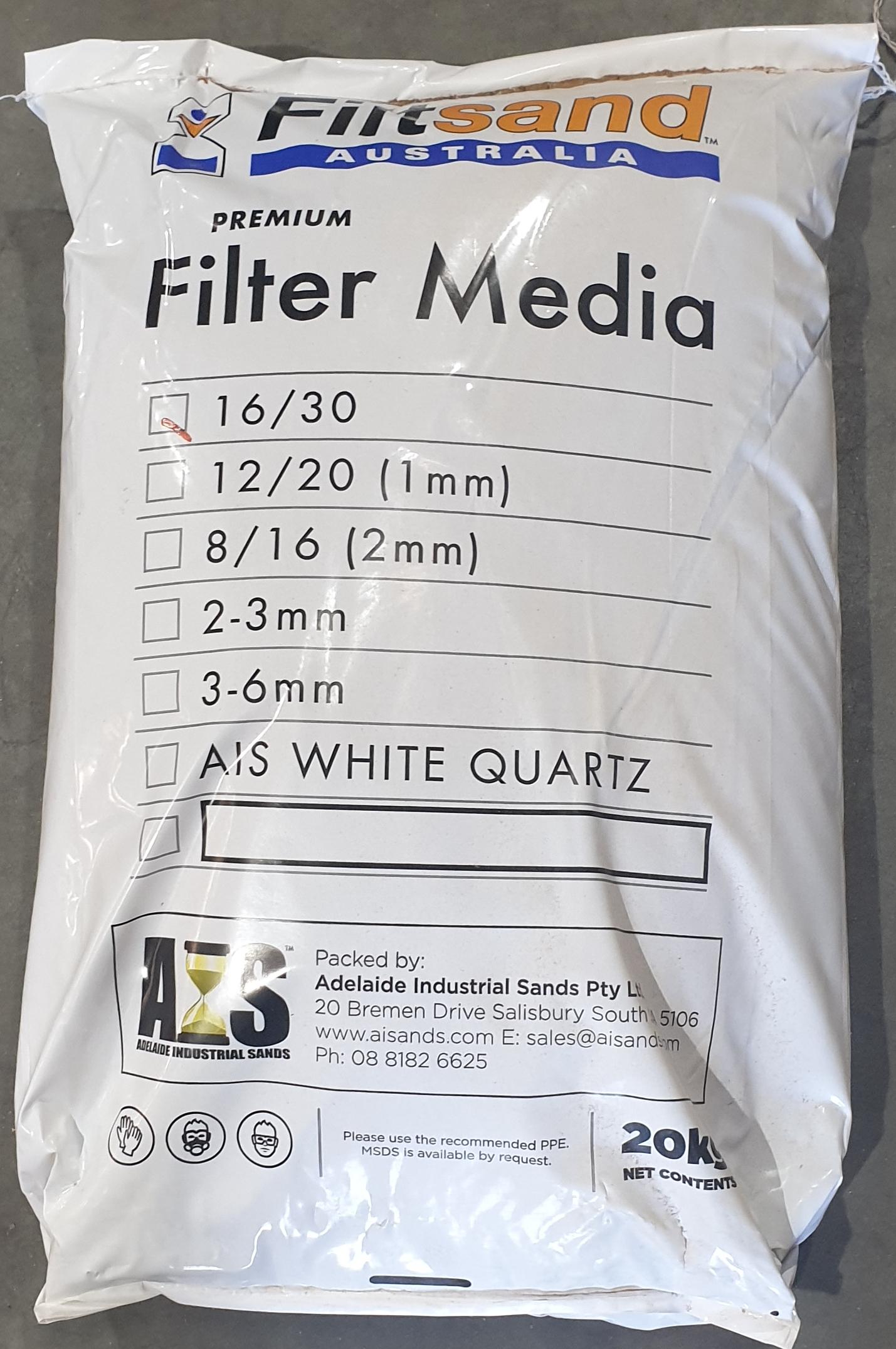 Filter Sand 20kg 16/30 Grade